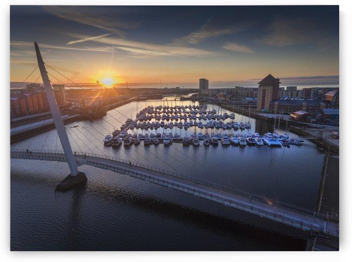 Sunrise at Swansea Marina by Leighton Collins