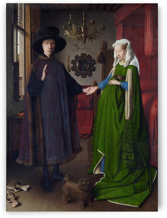 Jan van Eyck: Arnolfini Portrait HD 300ppi by Famous Paintings