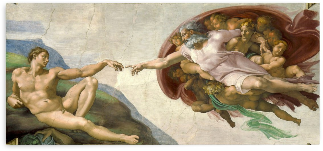 Michelangelo: The Creation Of Adam HD 300ppi by Famous Paintings