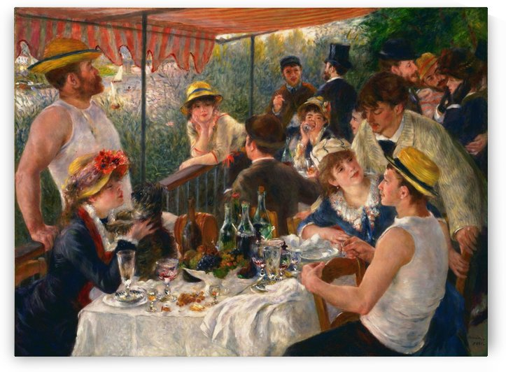 Pierre Auguste Renoir: Luncheon of the Boating Party HD 300ppi by Famous Paintings