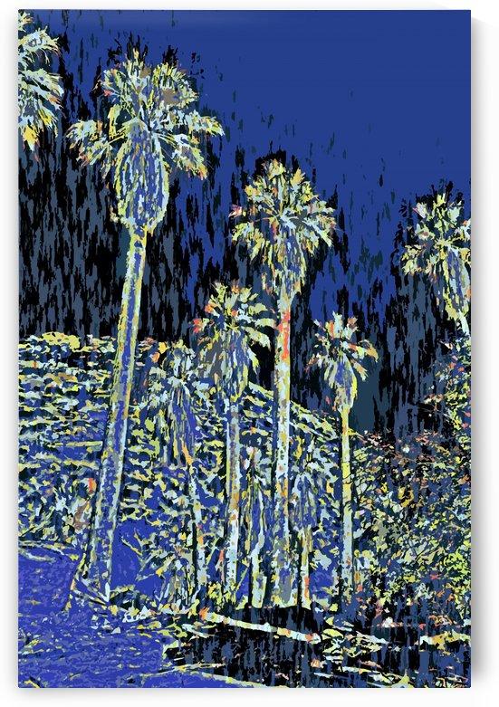 Palms Impresso  by Jarmila Kostliva Studio