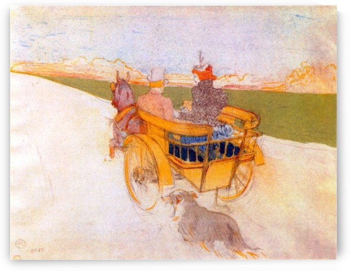Carriage with Dog by Toulouse-Lautrec by Toulouse-Lautrec