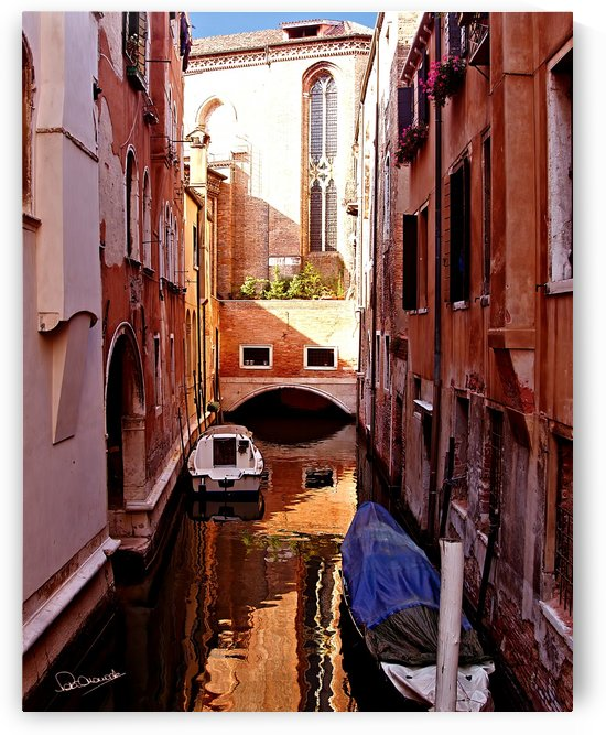 Reflections on a Venice Canal by Shadow and Form