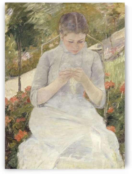 Cassatt - Girl in the Garden by Cassatt