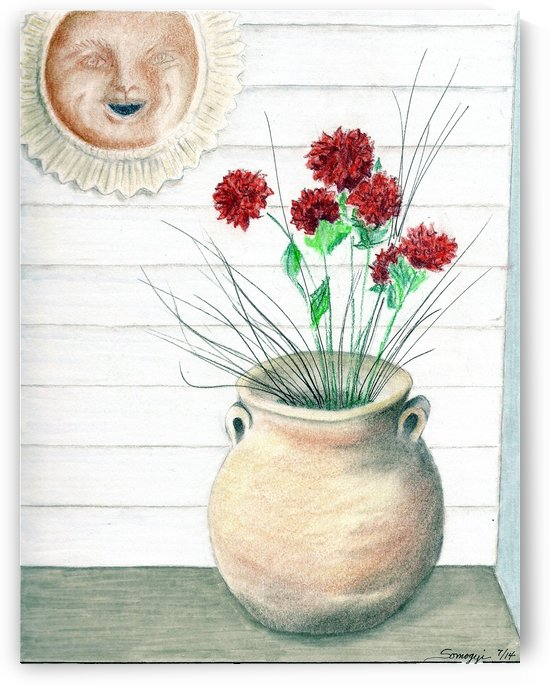 Clay Pot by Jayne Somogy