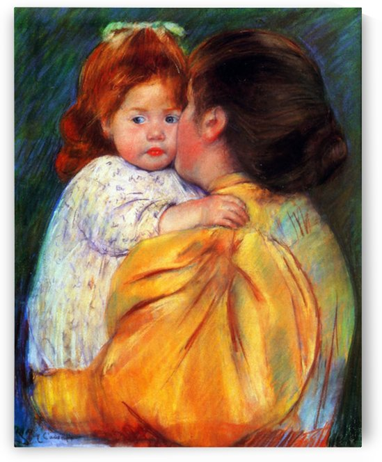 Cassatt Mary - Maternal Kiss 1896 by Cassatt