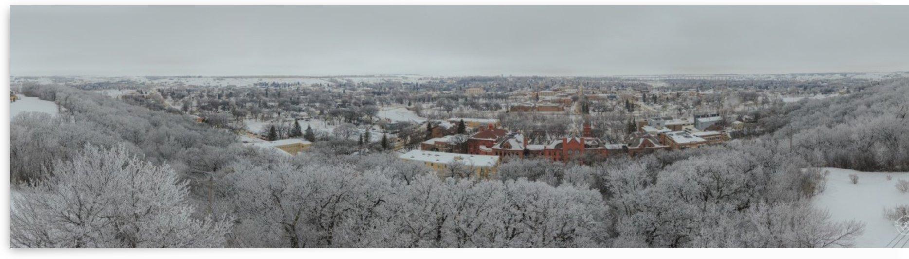 Winter Panorama of Valley City North Dakota by Jensen Air LLC