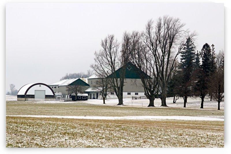 The Farm In Winter by Deb Oppermann