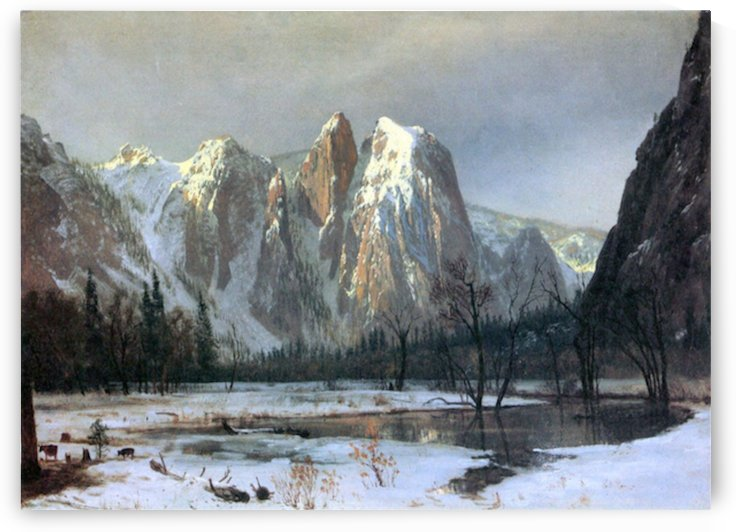 Cathedral Rocks, Yosemite by  Bierstadt by Bierstadt