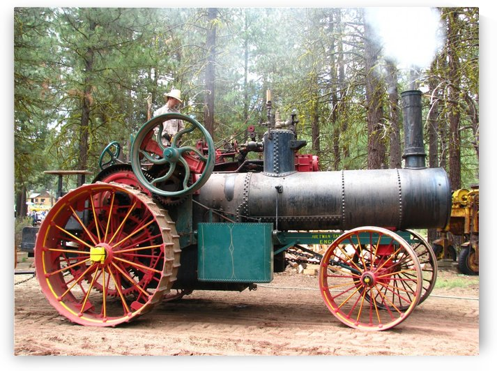 Logging Steam Tractor by Aurelia Schanzenbacher Sisters Fine Arts