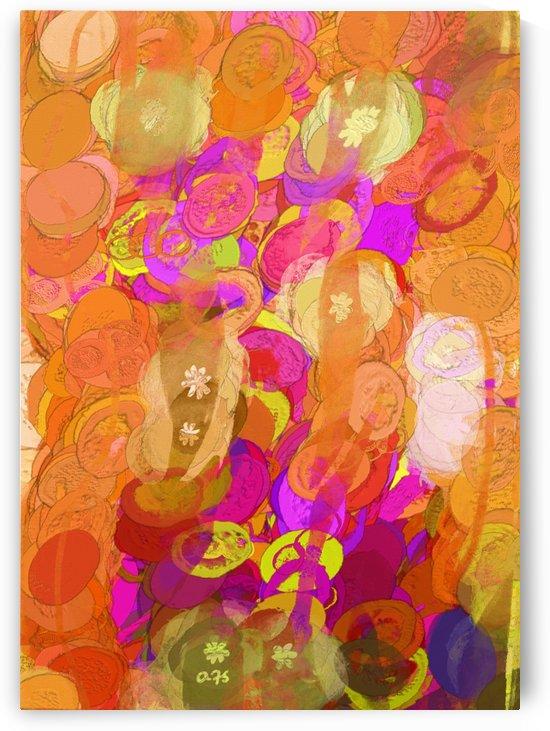Pink and orange by Aurelia Schanzenbacher Sisters Fine Arts
