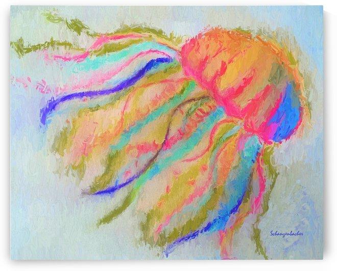 Jellyfish in watercolor by Aurelia Schanzenbacher Sisters Fine Arts