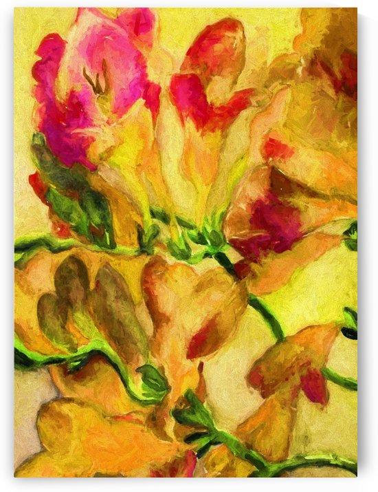 Yellow Flowers by Aurelia Schanzenbacher Sisters Fine Arts