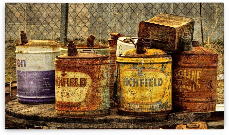 Vintage Oil Cans by Aurelia Schanzenbacher Sisters Fine Arts