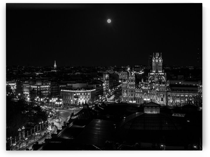 Night on Madrid by Artwork View - Amazing Photography