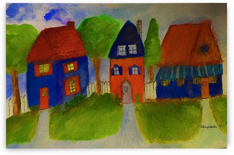 Whimsical Houses by Aurelia Schanzenbacher Sisters Fine Arts