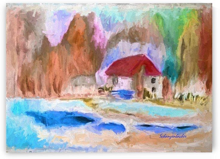 Winter House  by Aurelia Schanzenbacher Sisters Fine Arts