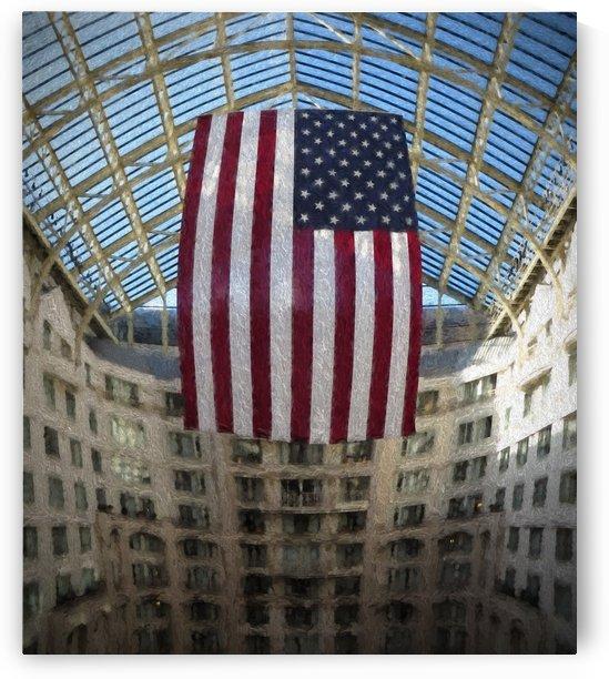 United States Flag by Aurelia Schanzenbacher Sisters Fine Arts