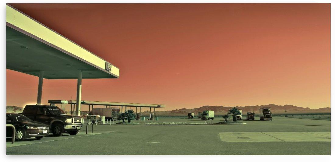 Nevada Gas Station by JarmilaKostlivaStudio
