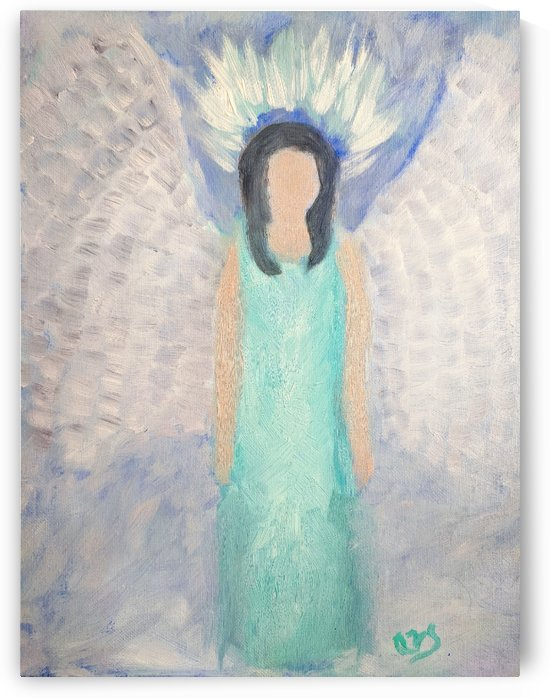 Angel in oil by Aurelia Schanzenbacher Sisters Fine Arts