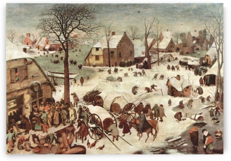 Census at Bethlehem by Pieter Bruegel by Pieter Bruegel
