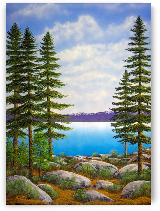 Tahoe View Through The Pines by Frank Wilson