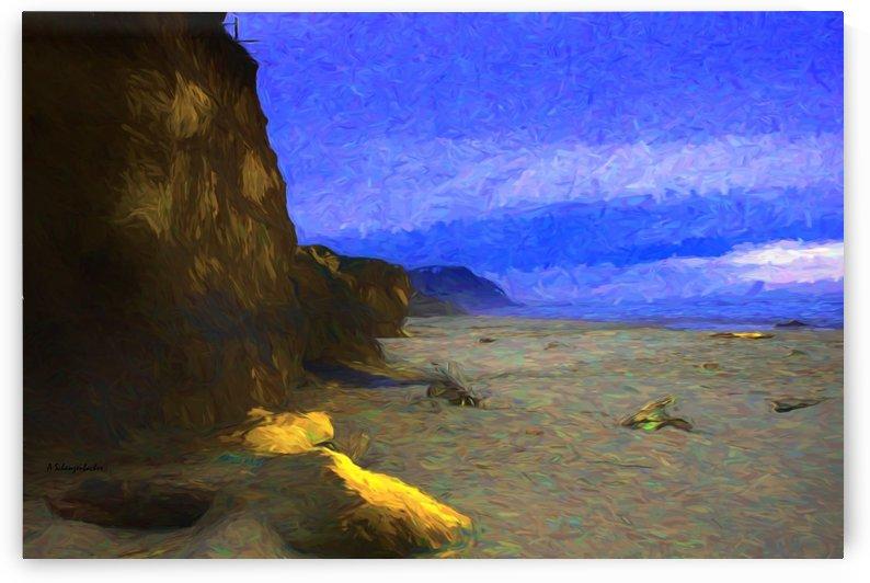 Yachats Beach Yachats Oregon Painting by Aurelia Schanzenbacher Sisters Fine Arts