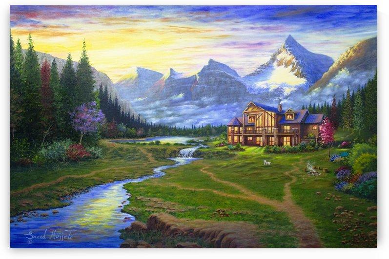 Beauty of Mt. Assiniboine  by Saeed Hojjati