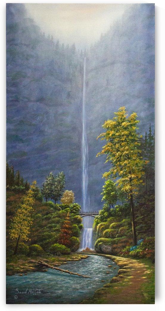 Multnomah Fall Oregon  by Saeed Hojjati