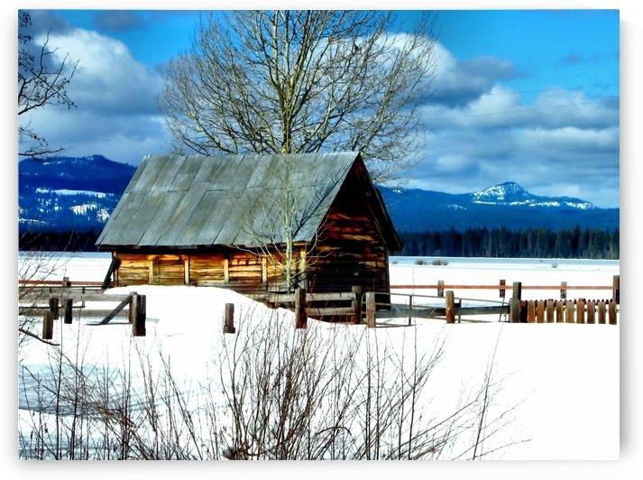Winter Homestead Oregon by Aurelia Schanzenbacher Sisters Fine Arts