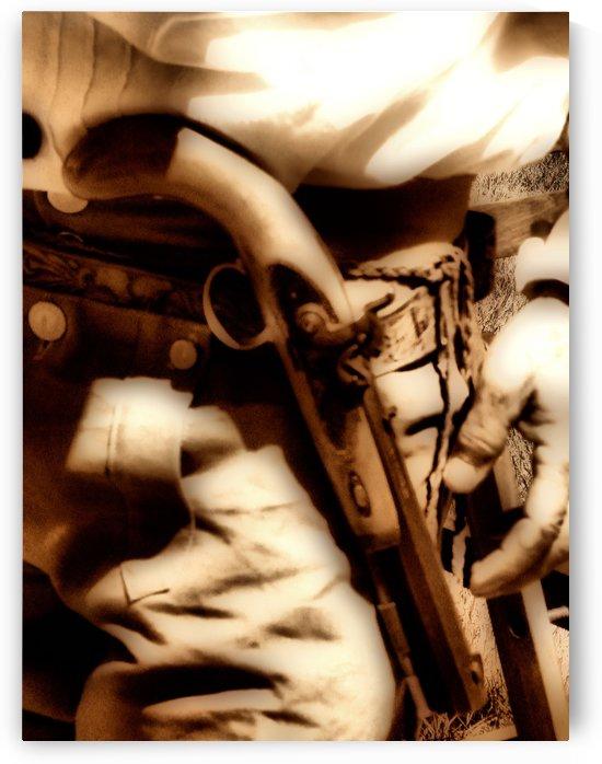 U.S. Civil War Gun and Holster Sepia by Aurelia Schanzenbacher Sisters Fine Arts