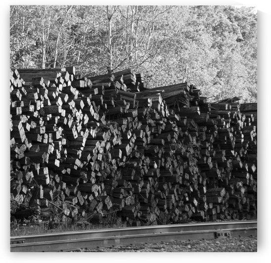 Railway Ties Stacked by Sean Mahedy