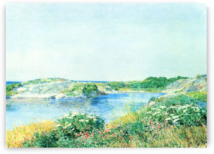 The small pond by Hassam by Hassam