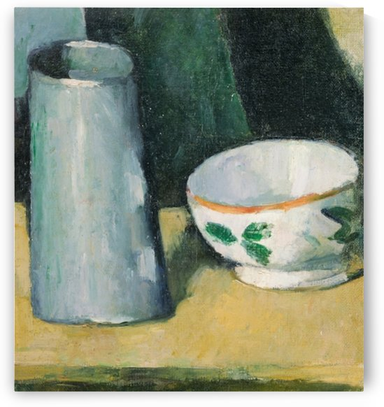 Cezanne - Bowl and Milk Jug by Cezanne