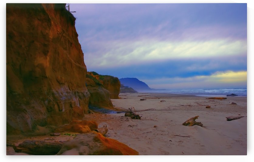 Yachats Beach Yachats Oregon  by Aurelia Schanzenbacher Sisters Fine Arts
