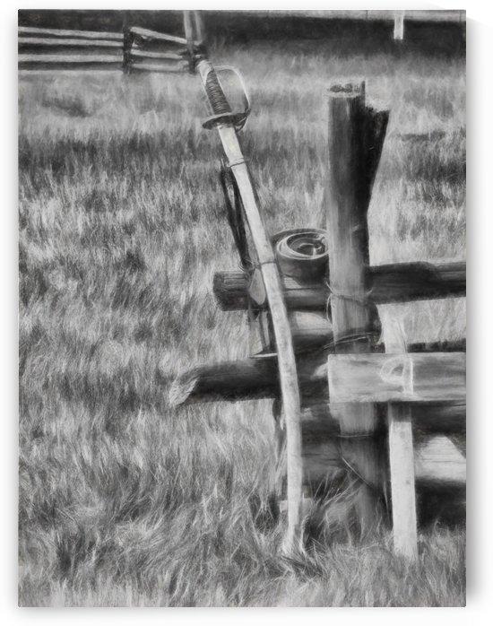 Sword in Charcoal by Aurelia Schanzenbacher Sisters Fine Arts