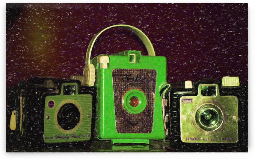 Antique Camera by Aurelia Schanzenbacher Sisters Fine Arts