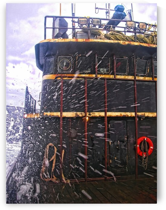 Bering sea storm by Aurelia Schanzenbacher Sisters Fine Arts