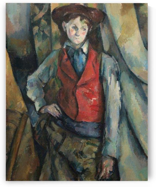 Cezanne - Boy in a Red Waistcoat by Cezanne