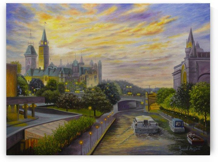 Rideau Canal in Ottawa by Saeed Hojjati