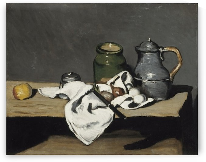 Cezanne - Still life with kettle by Cezanne