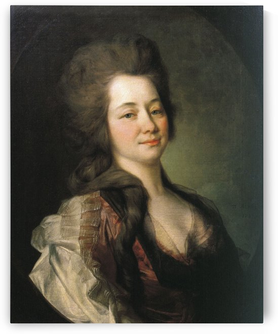 Portrait of Maria Alexeevna Lvova by Dmitry Levitzky