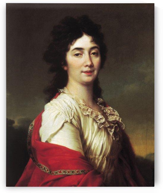 Portrait of Anna Stepanovna Protassova by Dmitry Levitzky