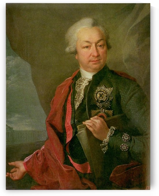 Portrait of Ivan Ivanovich Shuvalov by Dmitry Levitzky