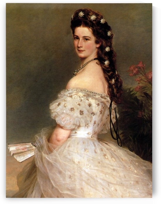 Empress Elisabeth of Austria in dancing dress by Dmitry Levitzky