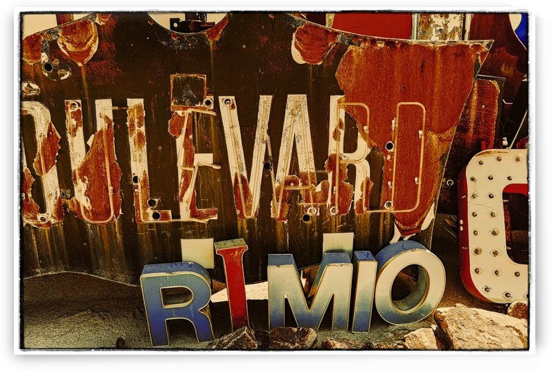 Rusty Boulervard Sign by Jarmila Kostliva Studio