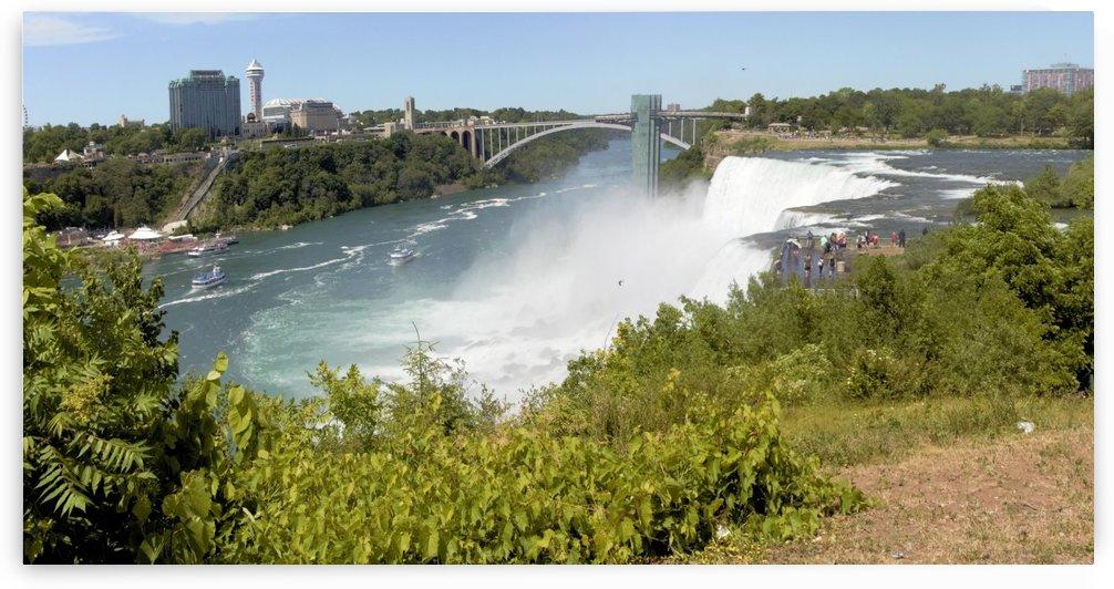Panorama Niagara River and American Falls by Bob McCulloch