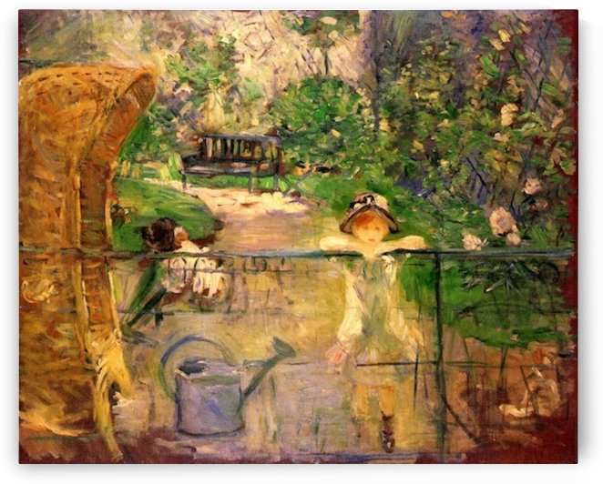 Chair in the garden by Morisot by Morisot