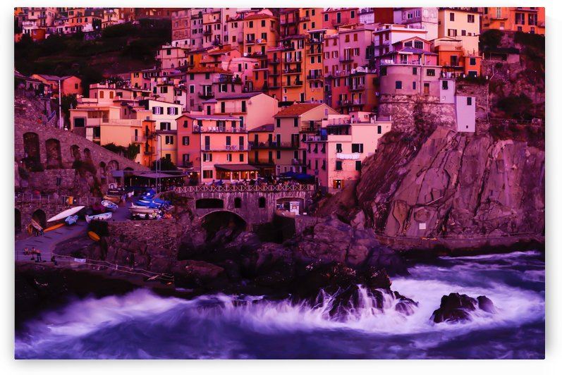 Manarola Italy at Twilight by Priscilla Lupo