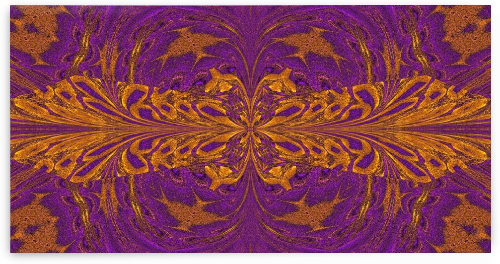 Golden Butterfly in Purple by Sherrie Larch